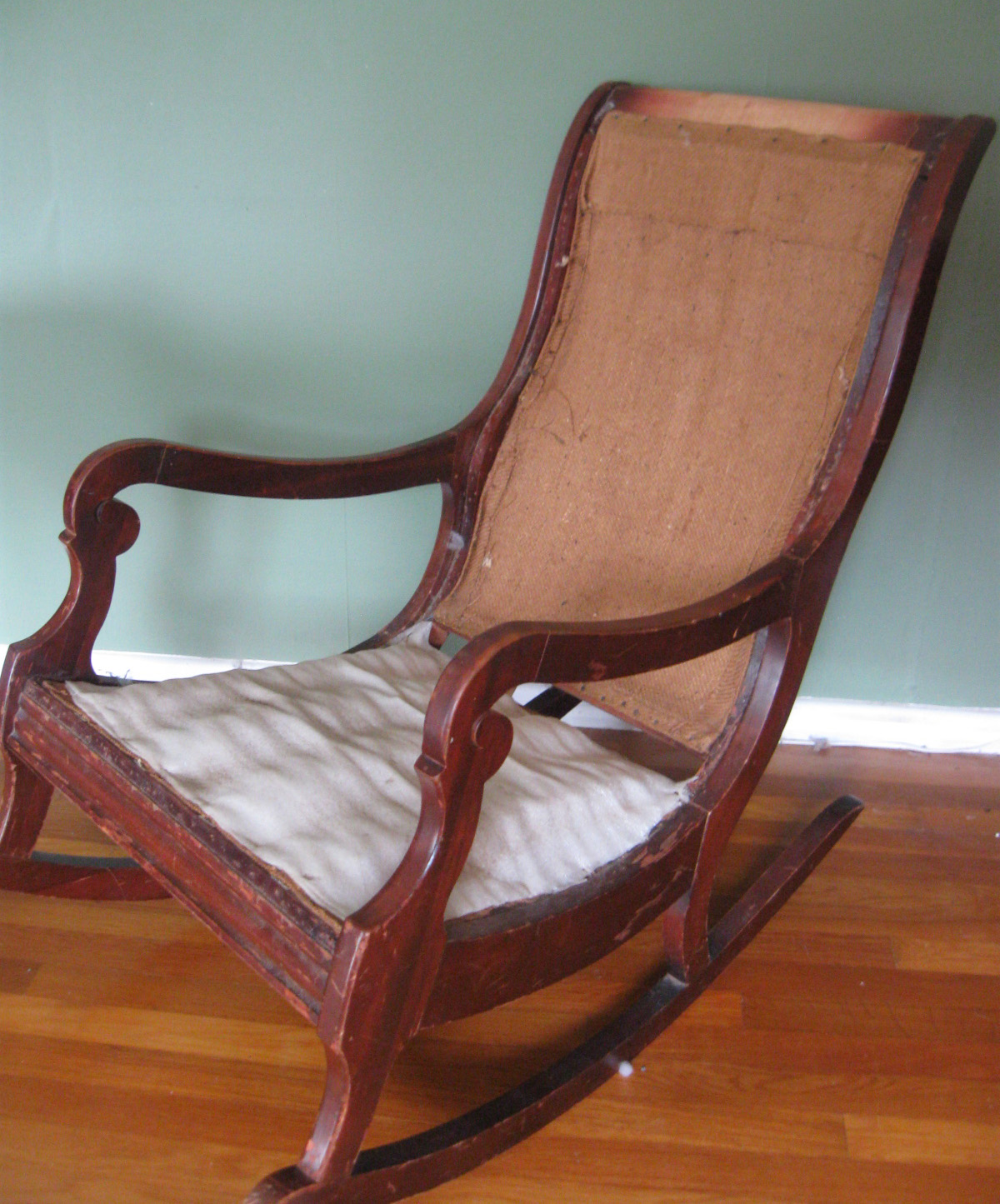How To Reupholster & Paint A Rocking Chair Part 1 Prodigal Pieces. Full resolution‎  portraiture, nominally Width 1200 Height 1445 pixels, portraiture with #9F5F2C.