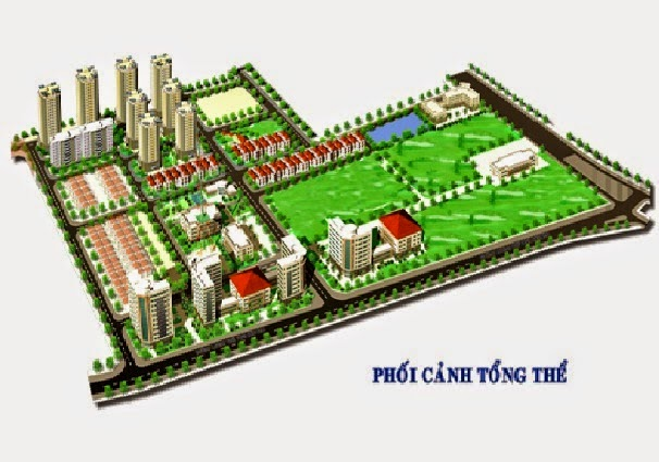 Phối cảnh tổng thể khu đô thị Mễ Trì
