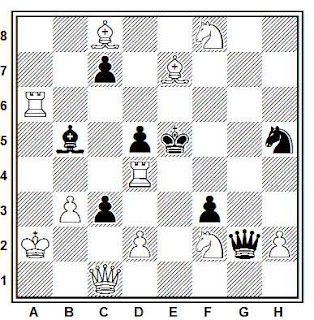 Problema ejercicio de ajedrez número 792: Mate en 2 de J. A. Coello (1986)