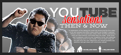 Youtube Sensations Then And Now [infographic 2]