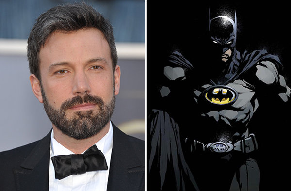 Ben Affleck posó con el traje de Batman