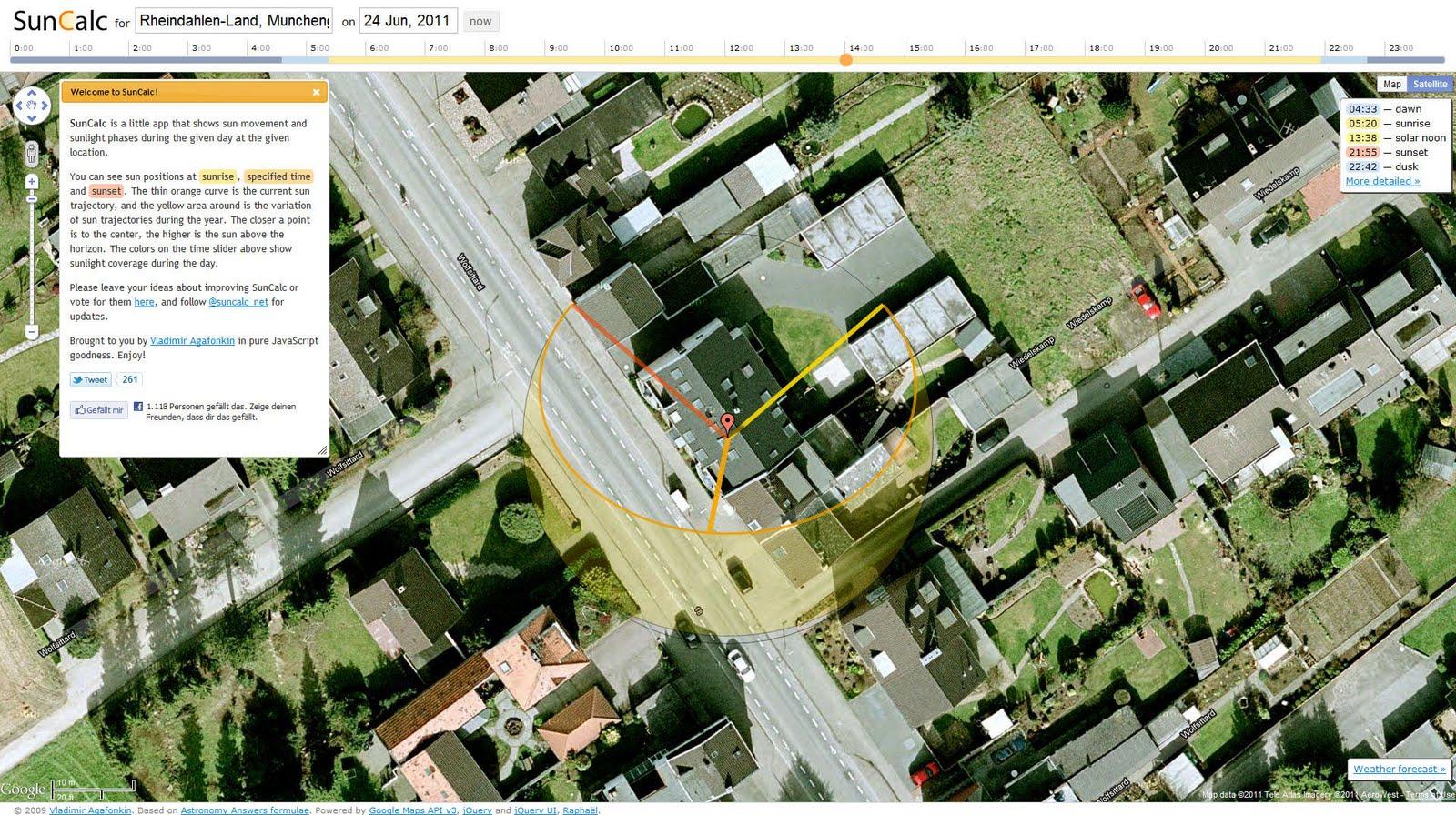 landkartenblog mit suncalc berp fen sie wo und wie die. Black Bedroom Furniture Sets. Home Design Ideas