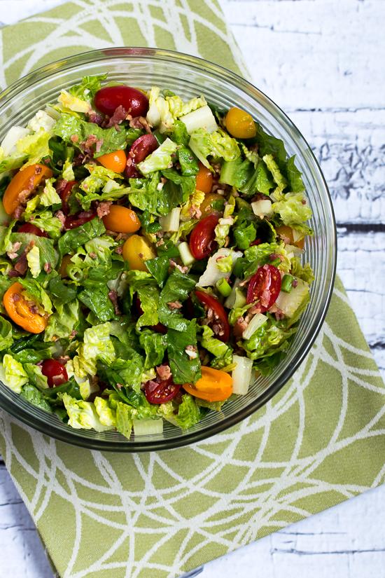 Quick and Easy BLT Salad found on KalynsKitchen.com