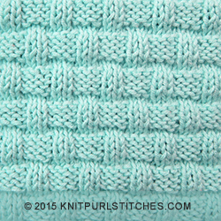 Knitting Patterns Using Only Knit And Purl Stitches : Basketweave - Pattern 1 Knit - Purl stitches