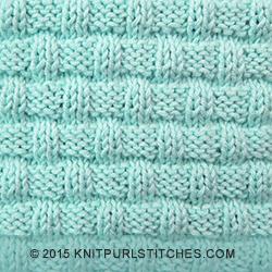 Basketweave - Pattern 1 Knit - Purl stitches