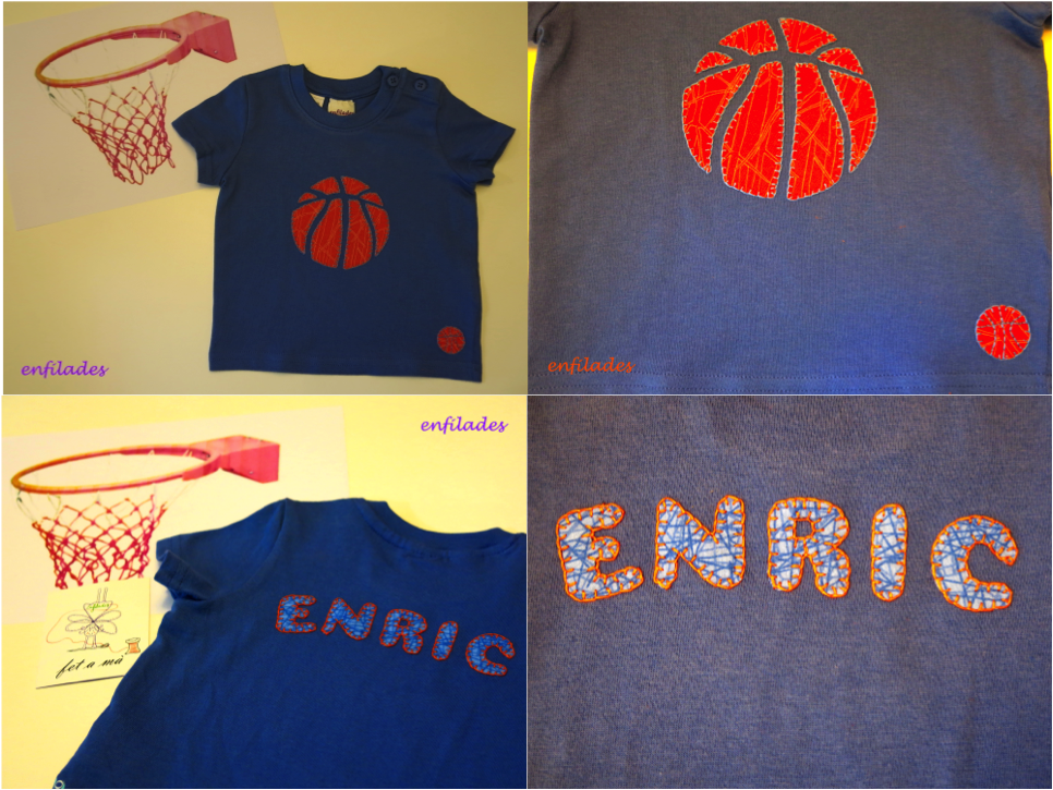 Samarreta Enric bàsquet - feta a mà Enfilades.cat