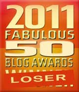 Winner - 2011 Fabulous 50 Blog Awards
