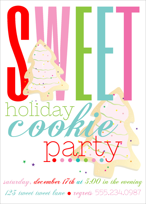 Jackie Fo Its that time again Christmas Cookie Party Ideas – Cookie Party Invitation