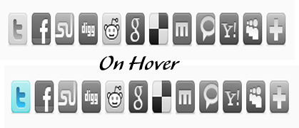 Awesome Social Bookmarking Widget with Cool Hover Effect For Blogger