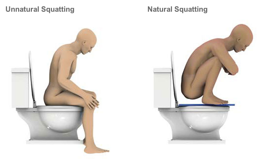 natural squatting possition is best for health