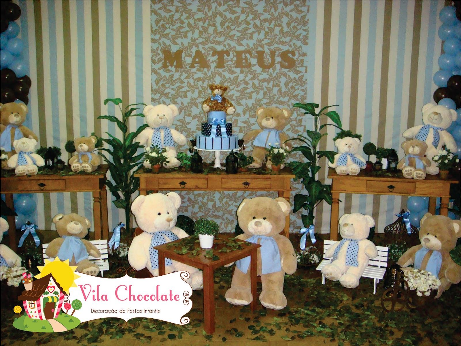 decoracao festa urso azul e marrom:urso marrom e azul urso marrom e azul urso marrom e azul urso marrom e
