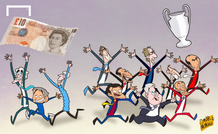 Premier League Cartoons Premier League Clubs Chase