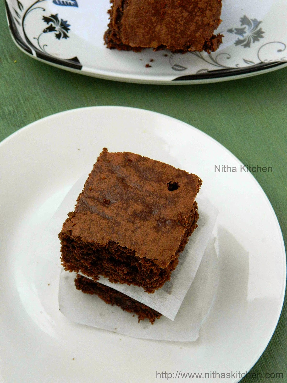 Eggless Moist Chocolate Brownies | Classic Chocolate Chip ...