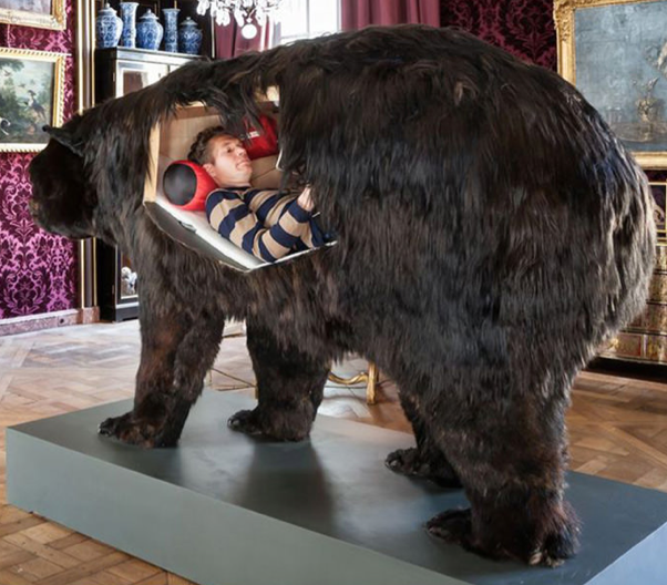 13 days inside a taxidermy bear