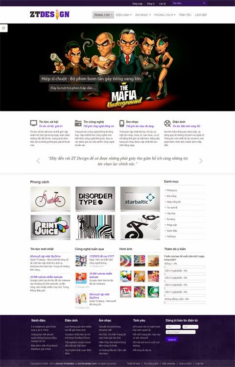 thiết kế web giải trí chuyên nghiệp
