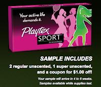 Free Playtex Sport Sample Pack