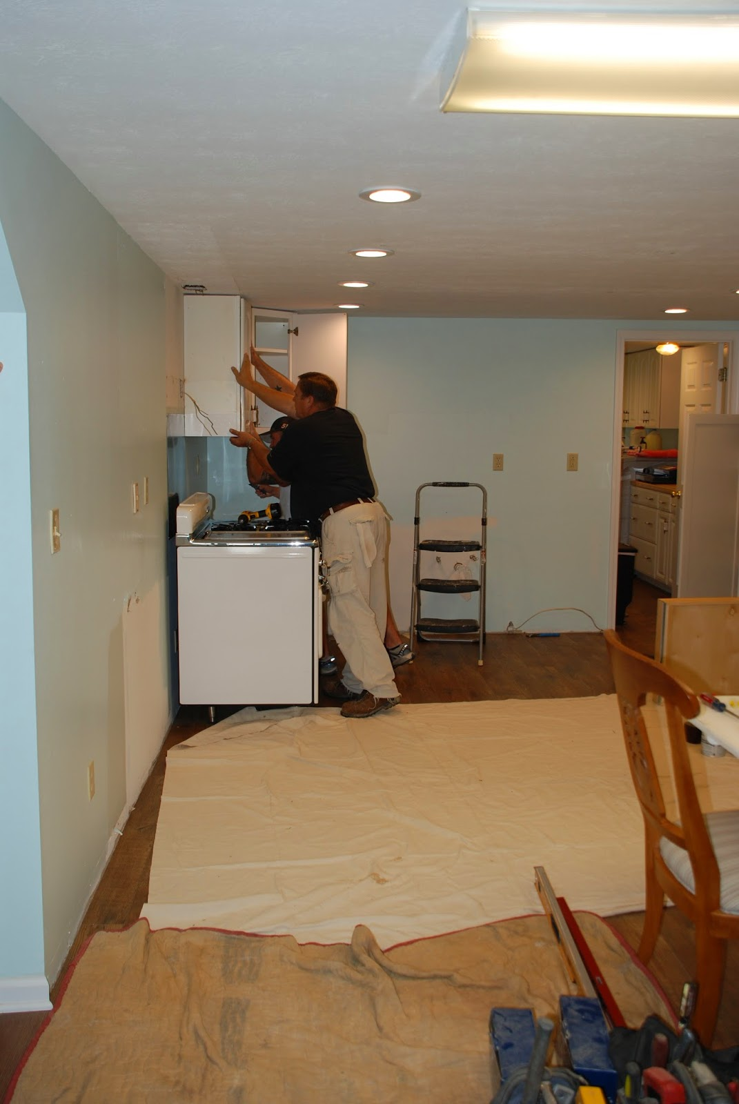 One Kitchen Cabinet possibilities: phase one: kitchen cabinet installation