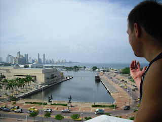 A picturesque view of the sea and the modern part of Cartagena, Colombian - Boca Grande