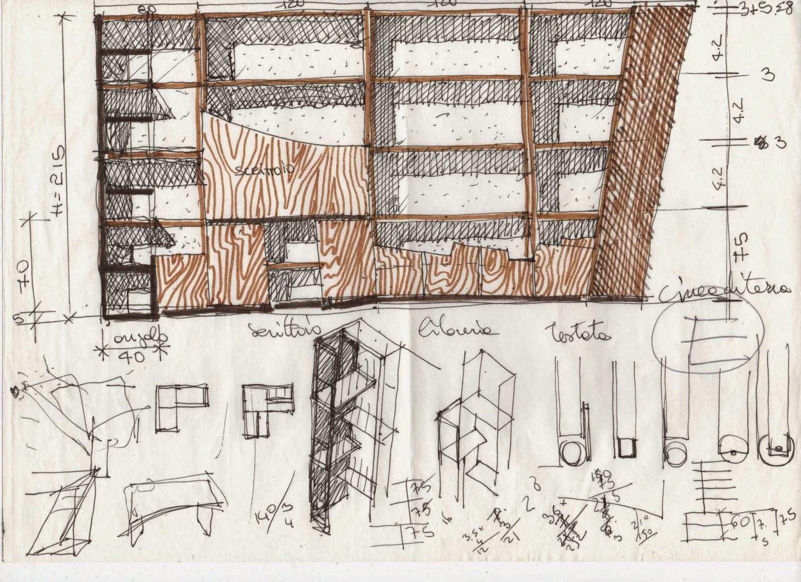 Vent 39 anni di disegni dell 39 arch antonio saporito disegni for Disegni di mobili su misura
