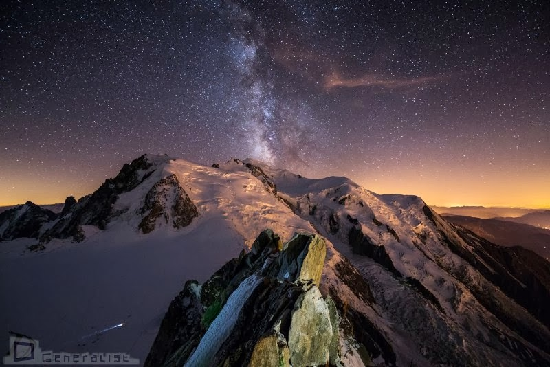Milky way over Mount Blanc