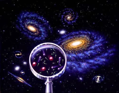 Resultado de imagen de Al mirar el Microscopio electrónico, (Microcosmos) vemos como las partículas cuánticas se mueven,