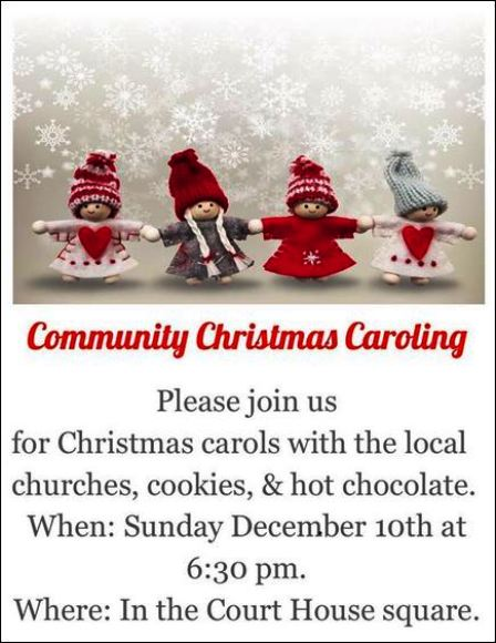 12-10 Community Christmas Caroling, Coudersport