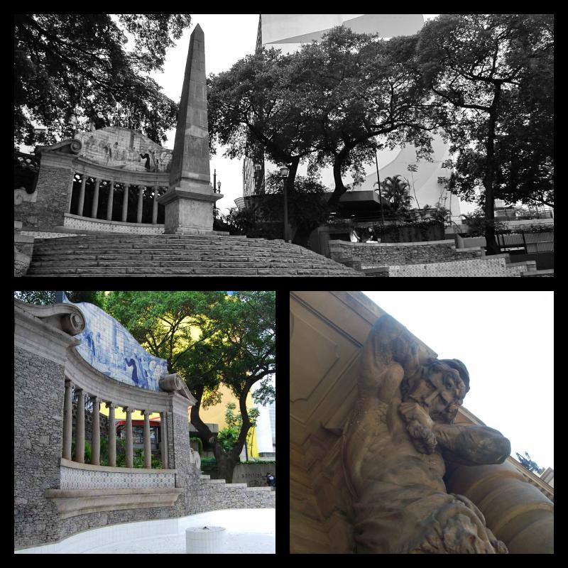 Colina de la Memoria y Teatro Municipal de Sao Paulo.