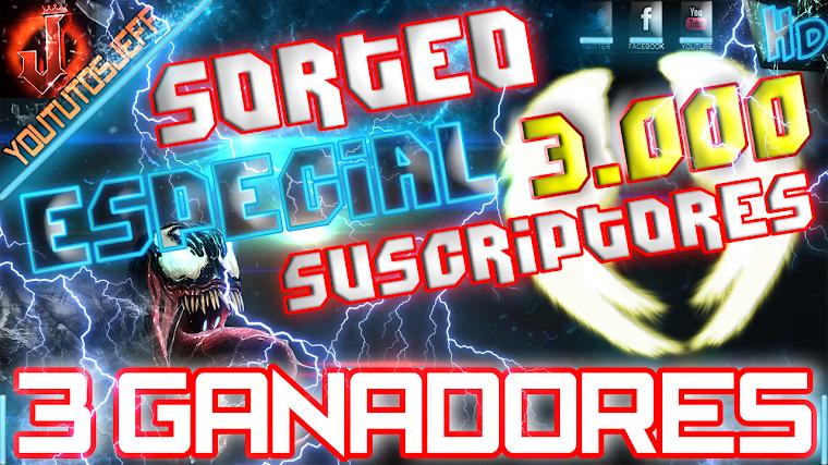SORTEO ESPECIAL 3.000 SUSCRIPTORES - CERRADO 2015