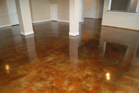 stained cement floors. Jeff Wanted The Floors To Look Super Glossy/shiny Like This. (this Is NOT Our House, This Just A Random Internet Picture) Stained Cement