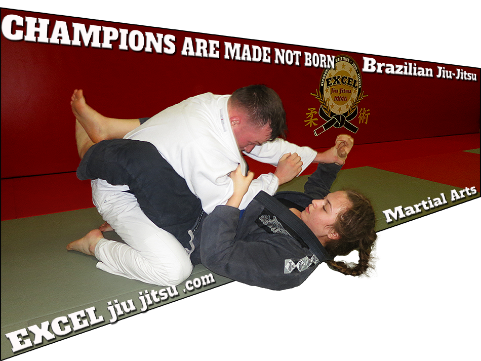 Champion women athlete training and practicing Jiu Jitsu, Martial Arts Oceanside