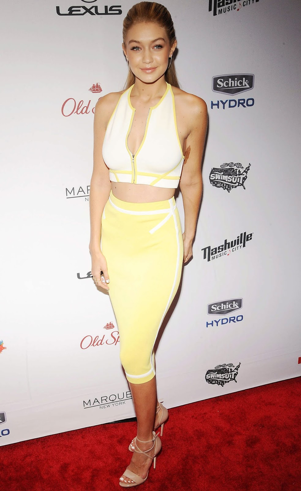 Gigi Hadid – 2015 Sports Illustrated Swimsuit Issue Celebration in NYC