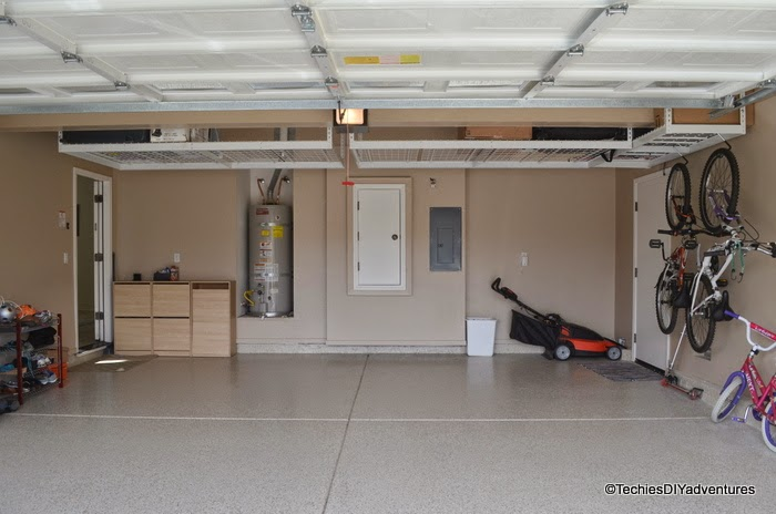 Garage floor makeover with Epoxy