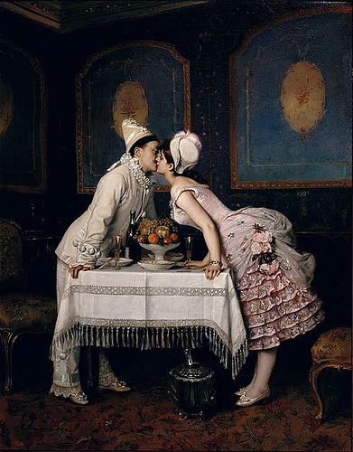 toulmouche kiss painting