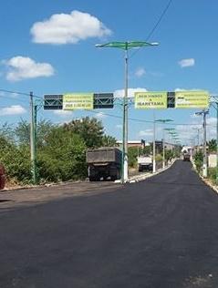 Uma das entrada de Ibaretama (vindo de Fortaleza)