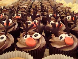 Cupcake, con Renos Navideños