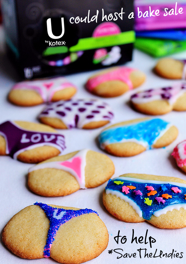 These underwear sugar cookies are adorable for a #bridalshower- but you should #SaveTheUndies with U By Kotex, not a bake sale! U By Kotex pads now feature 3D Capture Core technology to lock in liquid and prevent leaks- Never lose a good pair of underwear again! #Preach #UnderWarrior #SaveTheUndies #Sponsored Grab your free sample today! https://ooh.li/5a4141b