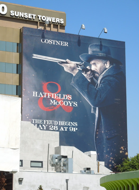 Kevin Costner Hatfields McCoys billboard