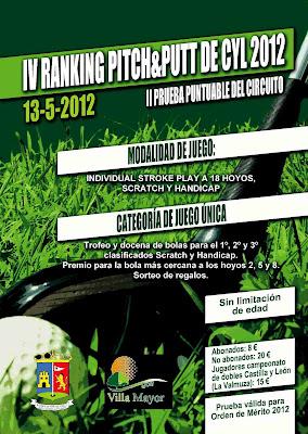 2a. prueba Ranking Pitch & Putt de Castilla y Leon