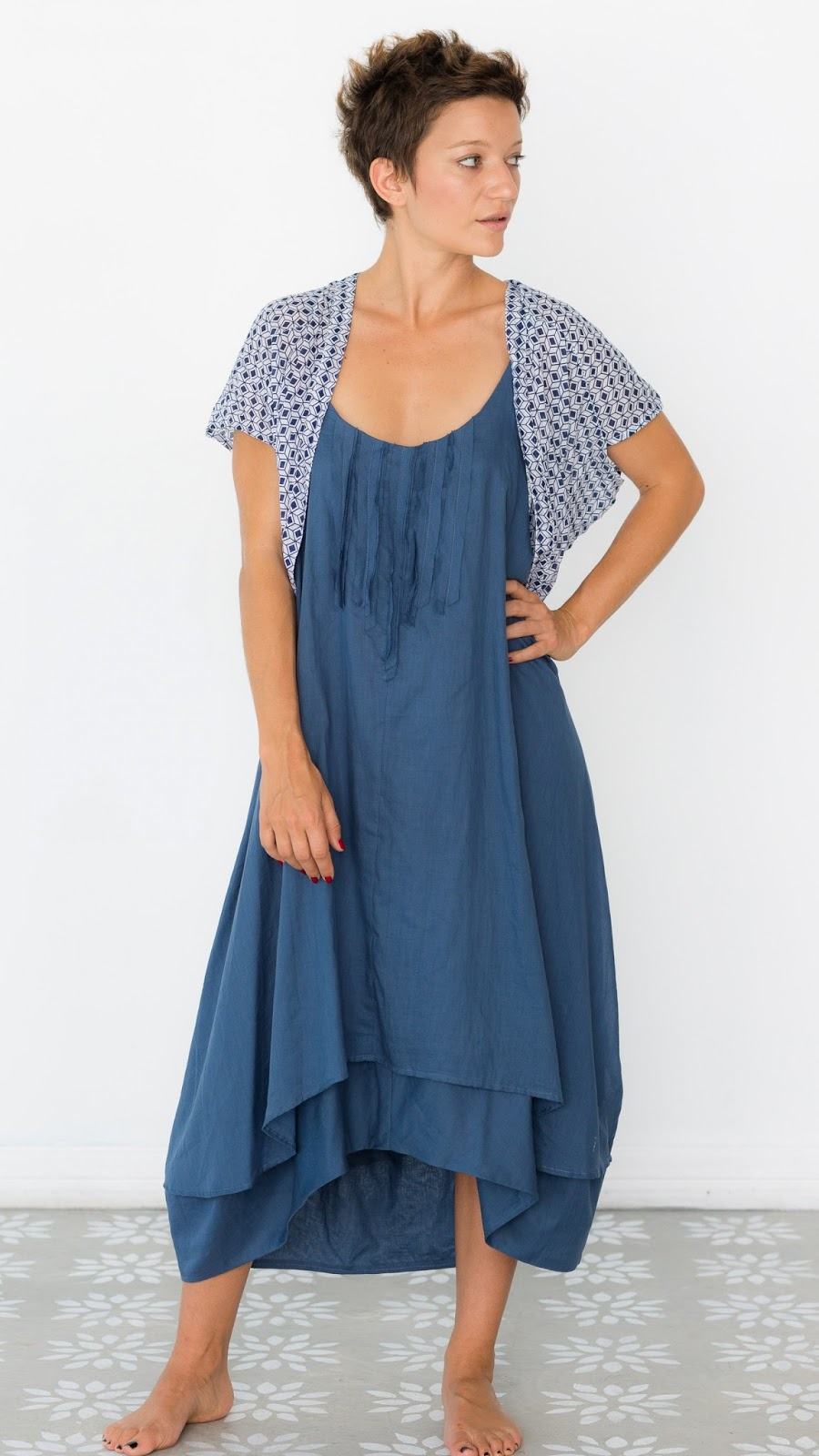 Nina Dress Steel Blue