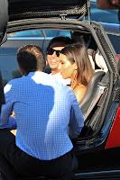 Kim Kardashian sitting in her new car
