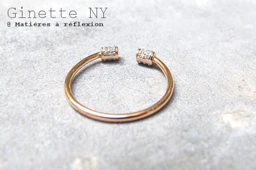 Bague diamants Ginette_NY or rose