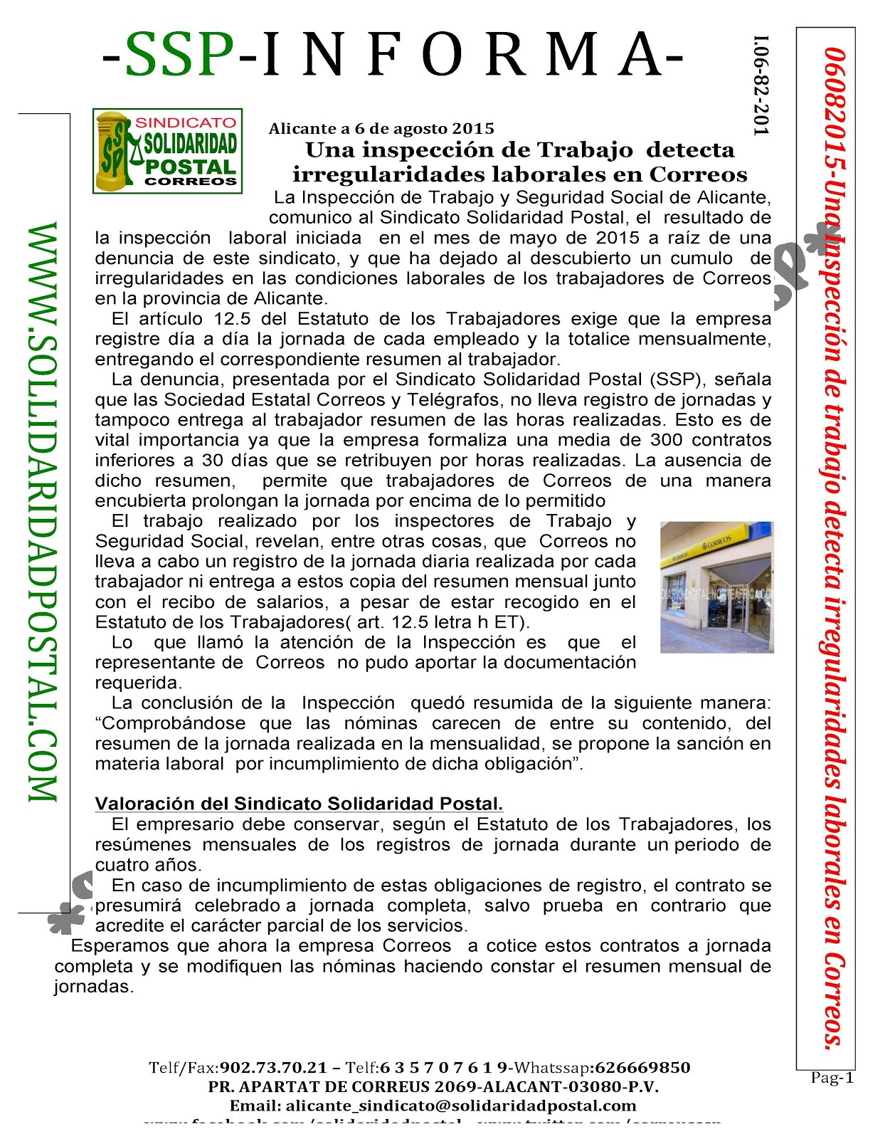 06/08/2015-SolidaridadPostal.com