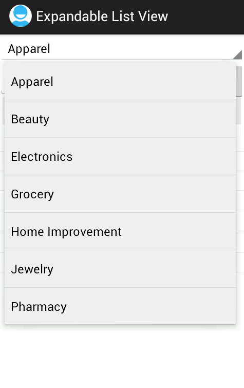 Android ExpandableListView Example