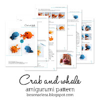 crab and whale amigurumi pattern