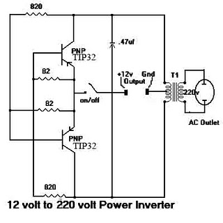 Simple <a href='http://www.circuitlab.org/search/label/Inverter' title='inverter circuits'>inverter</a> with Two Transistors