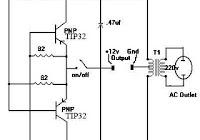 simple inverter with two transistors electronic circuit rh elcircuit com 4049 Hex Inverter Toshiba Transistor Inverter VF-S11