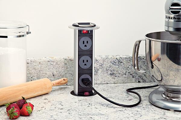 Cupboards Kitchen And Bath Pop Up Plugs Counter Receptacles