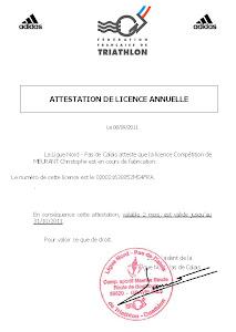 Licence Triathlon
