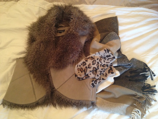 Wrap Up Warm For Ice Skating | Fur Gilet, Scarf, Leopard Print Mittens | London