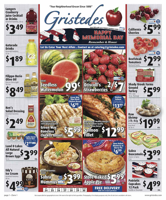 CHECK OUT ROOSEVELT ISLAND GRISTEDES Products, Sales & Specials For May 24 - May 30